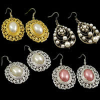 Glass Pearl Dangle Earring