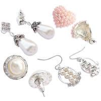 Plastic Pearl Rhinestone Stud Earring