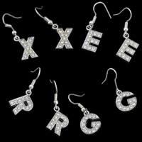 Alphabet Rhinestone Earring