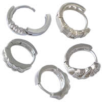 Mens Sterling Silver Hoop Earring