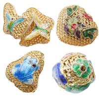 Cloisonne Hollow Beads
