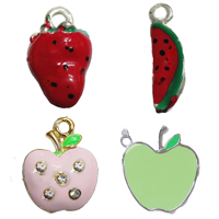 Fruit Shaped Enamel Pendants