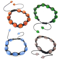 Cats Eye Woven Ball Bracelets
