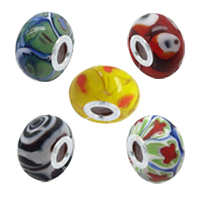 Italian Millefiori Glass European Beads