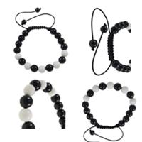 Acrylic Woven Ball Bracelets