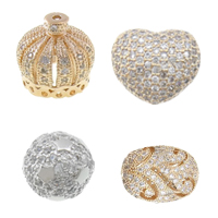 Cubic Zirconia Brass Beads