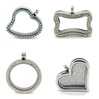 Stainless Steel Floating Locket Pendant Frame