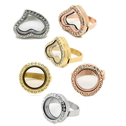 Floating Locket Finger Ring Frame