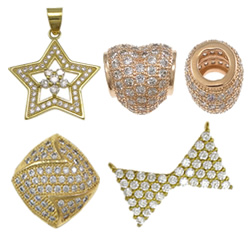 Brass Micro Pave Jewelry