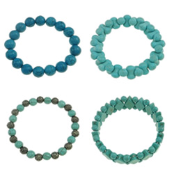 Synthetic Turquoise Bracelet
