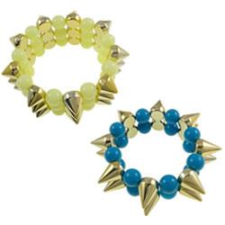 Acrylic Spike Bracelet