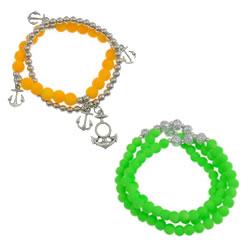 Acrylic Beads Multilayer Bracelet
