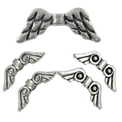 Zinc Alloy Angel Wing Beads