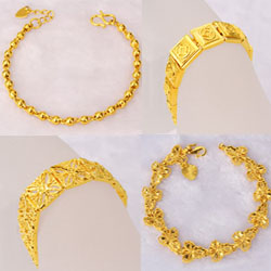 24K Gold Plated Brass Bracelets