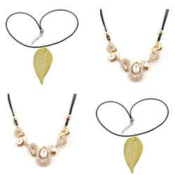 Waxed Nylon Cord Necklace