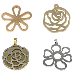 Stainless Steel Flower Pendant