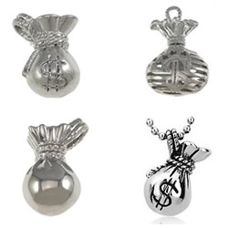Stainless Steel Money Bag Pendant