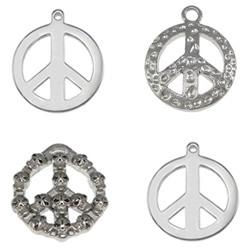 Stainless Steel Peace Logo Pendant