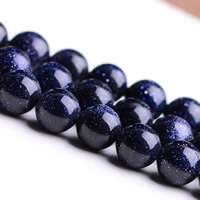 Blue Goldstone Beads
