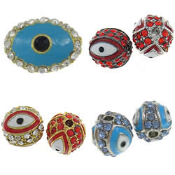 Zinc Alloy Evil Eye Beads