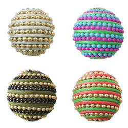 Wax Cord Woven Beads