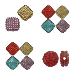 Rhinestone Resin Beads