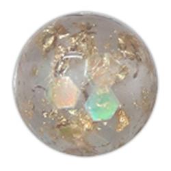 Gold Foil & Silver Foil Resin Beads