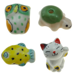 Animal Porcelain Beads