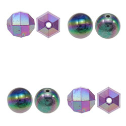 Colorful Plated Acrylic Beads
