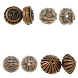 Antique Copper Color Plated Acrylic Beads