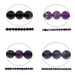 Natural Purple Agate Beads
