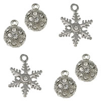 Rhinestone Stainless Steel Pendants