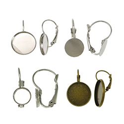 Brass Lever Back Earring Component
