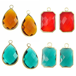 Glass Brass Pendants