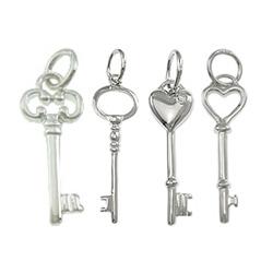 Sterling Silver Key Pendants