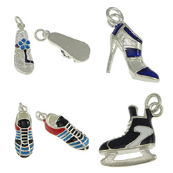Sterling Silver Shoes Pendants