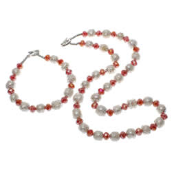 Crystal Freshwater Pearl Jewelry Sets