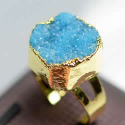 Druzy Finger Ring