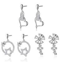 Sterling Silver Cubic Zirconia Earring