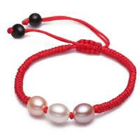 Freshwater Pearl Woven Ball Bracelets