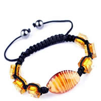 Glass Woven Ball Bracelets
