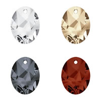 CRYSTALLIZED™ Elements #6911 Crystal Kaputt Oval Pendants