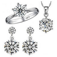 Sterling Silver Cubic Zircon Jewelry Sets