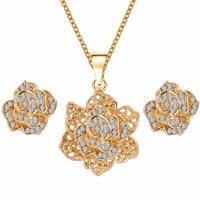 Rhinestone Zinc Alloy Jewelry Set
