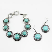 Turquoise Zinc Alloy Jewelry Sets