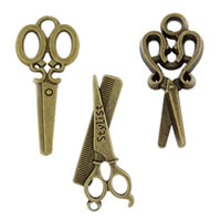 Zinc Alloy Scissors Pendants