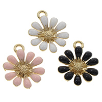 Zinc Alloy Flower Pendants
