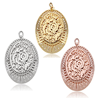 Zinc Alloy Flat Oval Pendants