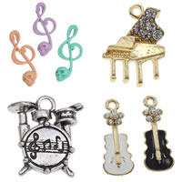 Musical Instrument Shaped Zinc Alloy Pendants