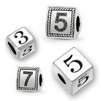 Sterling Silver Number Beads